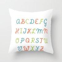ABC...RGB... Throw Pillow