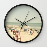 Beach People Wall Clock