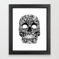 Skull Face Framed Art Print