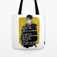 Textures & Words Tote Bag