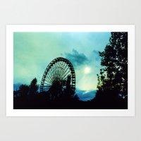 Ferris Wheel I Art Print