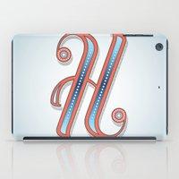 Letter H iPad Case