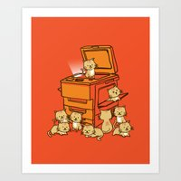 cats Art Prints featuring The Original Copycat by Picomodi