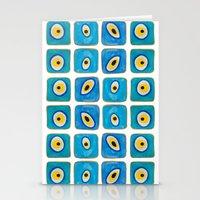 Evil Eye Squares Stationery Cards