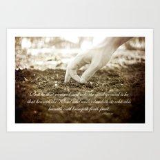 Matt 13:23 Art Print