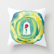 Disney's Beauty and the Beast Enchanted Rose Throw Pillow