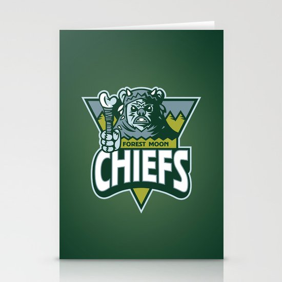 Forest Moon Chiefs - Green Stationery Card