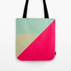 Modern Color Block Geometric Shapes  Tote Bag