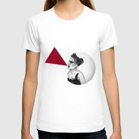 Black Swan IV Womens Fitted Tee White SMALL