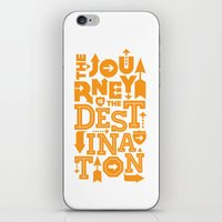 Orange Type Journey Quot… iPhone & iPod Skin
