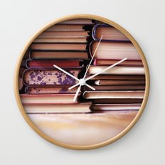 vintage pages Wall Clock