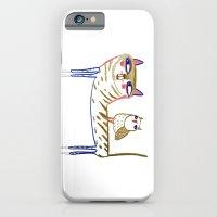 cat and owl, cat art, cat print, cat illustration, cats, cat, owl print,  iPhone 6 Slim Case