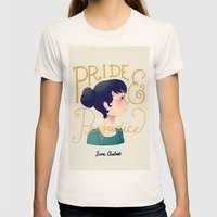 Pride And Prejudice Womens Fitted Tee Natural SMALL