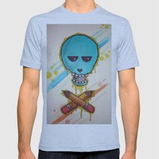 Art Skull Mens Fitted Tee Athletic Blue SMALL