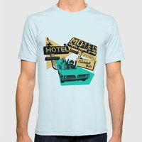Road Trip Mens Fitted Tee Light Blue SMALL