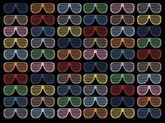 Rainbow Shutter Shades at Night Canvas Print