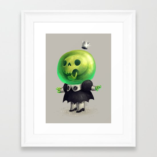 Slime Princess Framed Art Print