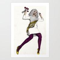 Fashion Illustration - Patterns and Prints - Part 5 Art Print