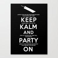 Final Fantasy 7: Keep Kalm Canvas Print