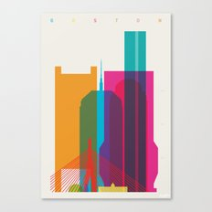 Shapes of Boston. Accurate to scale Canvas Print
