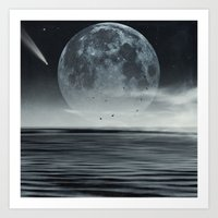 oceans of tranquility Art Print