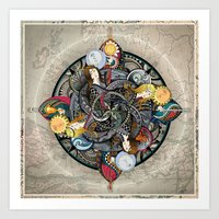 Queens Of The Elements Art Print