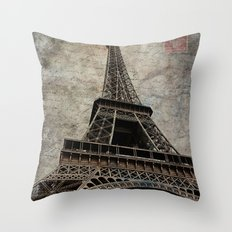 loveletter from paris Throw Pillow