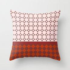 Diamond patterns Throw Pillow