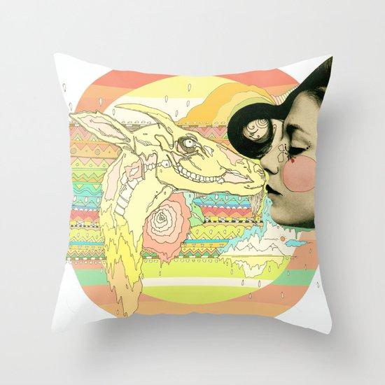 luv el chivo, la cabra  Throw Pillow