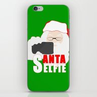 Santa Selfie iPhone & iPod Skin