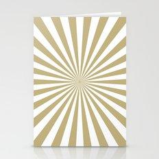 Starburst (Sand/White) Stationery Cards