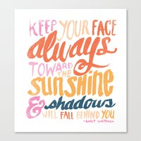 ...TOWARDS THE SUNSHINE Canvas Print