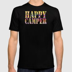 Camping Dreams SMALL Mens Fitted Tee Black