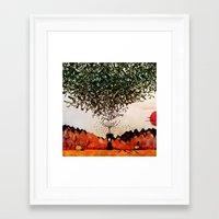 Forest Mood Framed Art Print