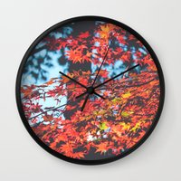 Lake Tahoe Leaves Wall Clock