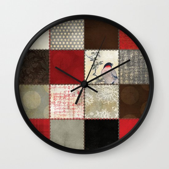 Ravenwood Patchwork Wall Clock