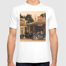 Trip through the past. White Mens Fitted Tee SMALL