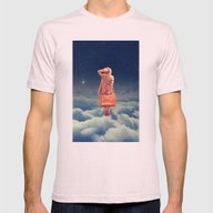 Galactic Traveller Mens Fitted Tee Light Pink SMALL