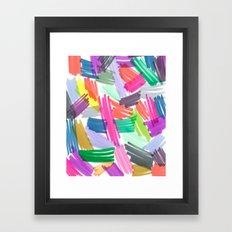 BRIGHT SCRIBBLES Framed Art Print