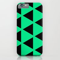 iPhone & iPod Case featuring Sleyer Black on Green Pattern by Stoflab