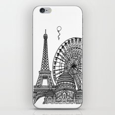 Paris Silhouettes iPhone & iPod Skin