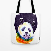 Panda Technicolor Tote Bag