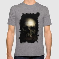 Male skull Mens Fitted Tee Tri-Grey SMALL