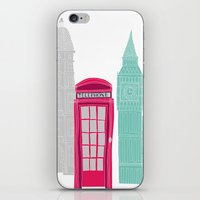 London Red Telephone Box (pink) iPhone & iPod Skin