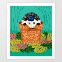 A Hedgehog's Home Art Print