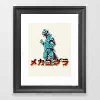Mechagodzilla Framed Art Print