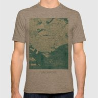 Singapore Map Blue Vinta… Mens Fitted Tee Tri-Coffee SMALL