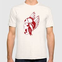 Angel of Mercy, Traditional American Tattoo Design Mens Fitted Tee Natural SMALL