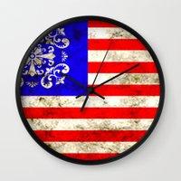 An American flag Wall Clock