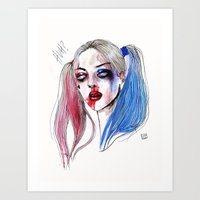 Margot as Harley quinn Fan art Art Print